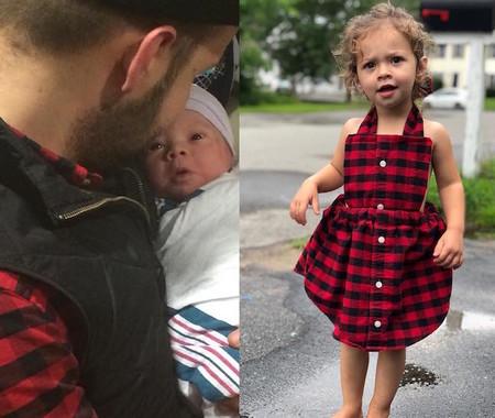 Una madre convierte la camisa que usó su marido cuando nació su hija en un vestido muy especial para la pequeña
