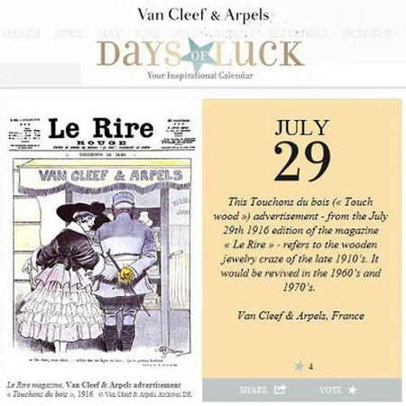 Inspirational Calendar de Van Cleef