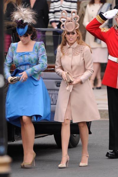 El look de las hijas de Sarah Ferguson en la Boda del príncipe Guillermo y Kate Middleton