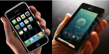 iPhone vs. LG KE850