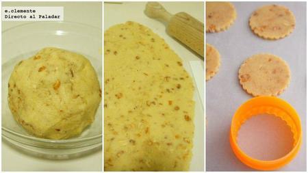 galletas de naranja y cacahuetes con miel