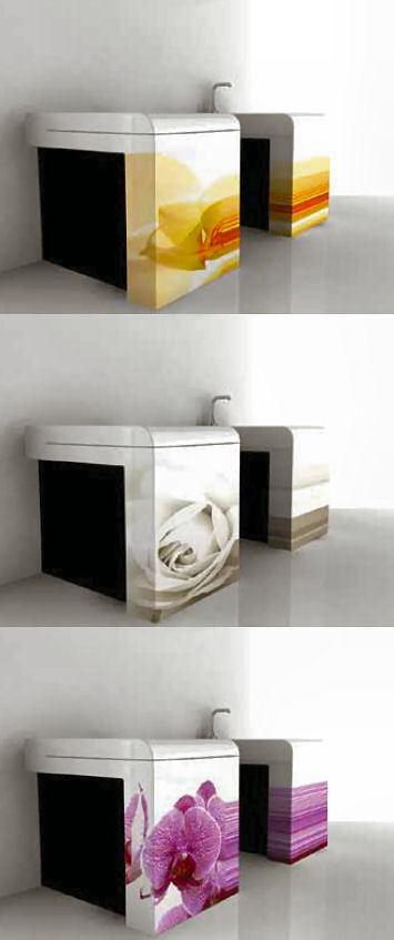 Art Ceram: flores en tu baño