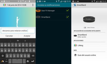 Smartband notificaciones y marcadores