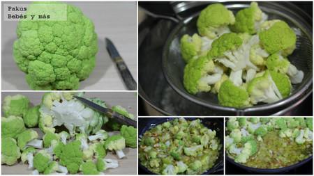 broquil verde puerro y anacardos