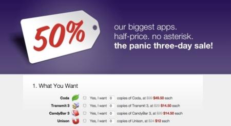 Panic oferta aplicaciones al 50% descuento