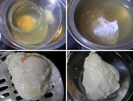 Pasos para escalfar un huevo