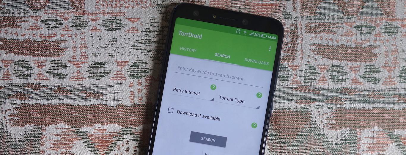 TorrDroid: una aplicación para buscar y descargar torrents