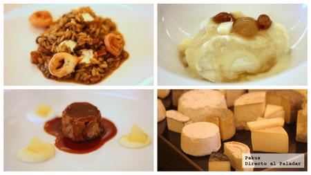 platos principales y quesos les cols