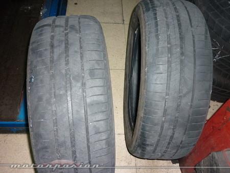 Neumáticos gastados