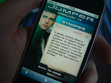 Jumper, primera película con website optimizado para el iPhone/iPod Touch