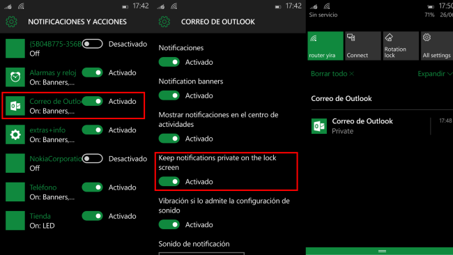 Private Notifications Win10