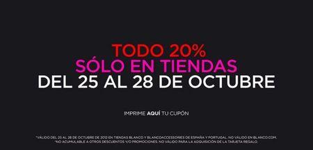 Blanco: del 25 al 28 de Octubre consigue un 20% de descuento