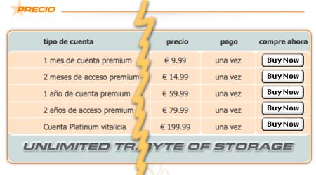 Megaupload en euros