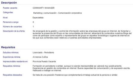oferta comunity manager