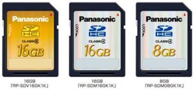 Tarjetas SDHC de 16 GB, de Panasonic