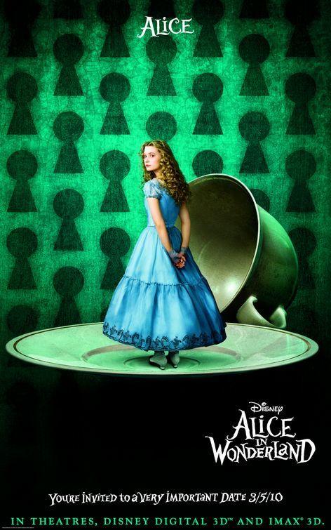 Foto de 'Alice in Wonderland' de Tim Burton, nuevos carteles (1/3)