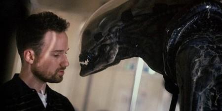 David Fincher en el rodaje de Alien 3