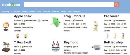 Nookazon, el Amazon de Animal Crossing en el que comprar objetos, recetas y hasta vecinos