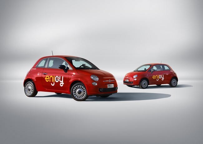 Fiat 500 del carsharing Enjoy