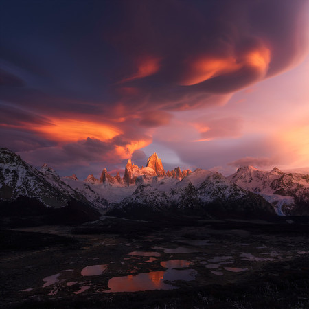 Clouds Gather In South America Fitzroy Xiao