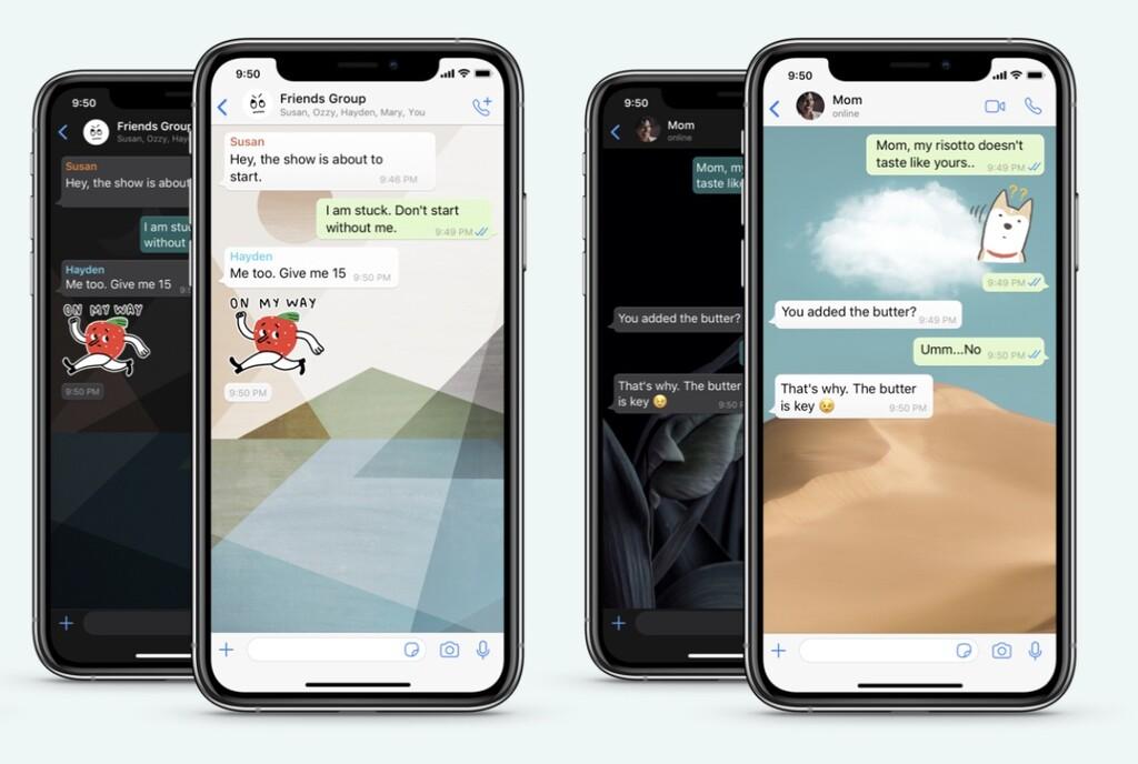 WhatsApp se actualiza para ofrecer fondos de pantalla para chats individuales, buscador de Stickers y más