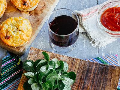 Muffins de papa con tocino. Receta sencilla y rápida
