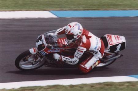 Capirossi con la Honda 1991