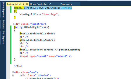 MVC en Visual Studio 2013