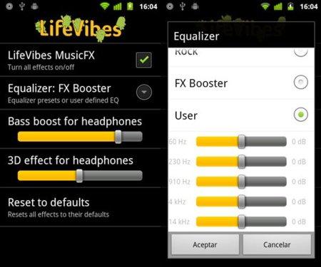 LifeVibes MusicFX, descubre los efectos y ajustes de sonido ocultos en tu Android 2.3 Gingerbread