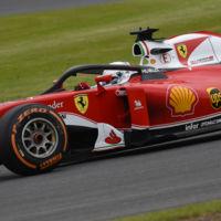 La nueva versión de halo probada por Ferrari en Silverstone no convence a Vettel