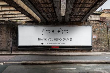 La comunidad de No Man's Sky compra el espacio de una valla publicitaria para darle las gracias a Hello Games