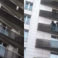 El héroe que escaló cuatro pisos para salvar a un niño