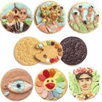 El arte de Tisha Cherry en una galleta Oreo