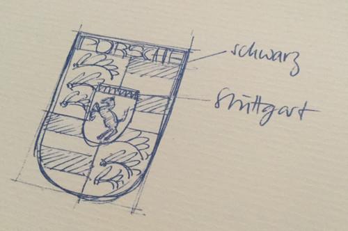 Logos de coches: Porsche y la historia del dibujo en una servilleta de un restaurante de Nueva York