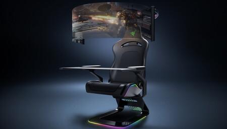 Razer Brooklyn, la silla gaming del futuro nos muestra en vídeo su pantalla plegable de 60 pulgadas que se guarda en la parte posterior