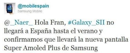 A España llegará el Samsung Galaxy SII pata negra