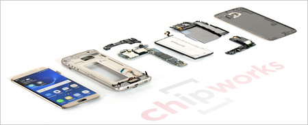 16 Samsung Galaxy S7 Teardown Layout Shot