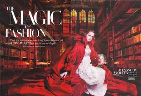 Emma Watson en Harper's Bazaar