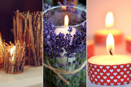 Tres buenas ideas para decorar tus velas