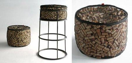 Recicladecoración: un asiento hecho con corchos