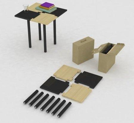 Table in Box, mesa desmontable