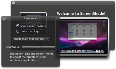 ScreenShade, reduciendo el brillo de tu pantalla en Mac OS X