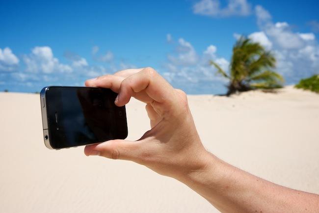 iPhone 4 fotografiando dunas