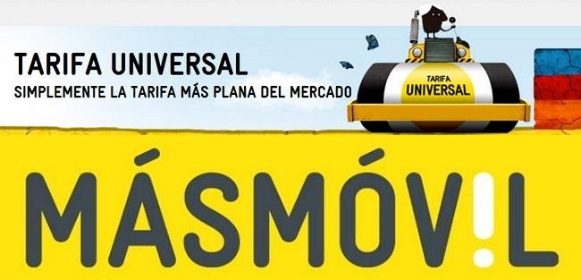 MÁSMÓVIL presenta la Tarifa Universal