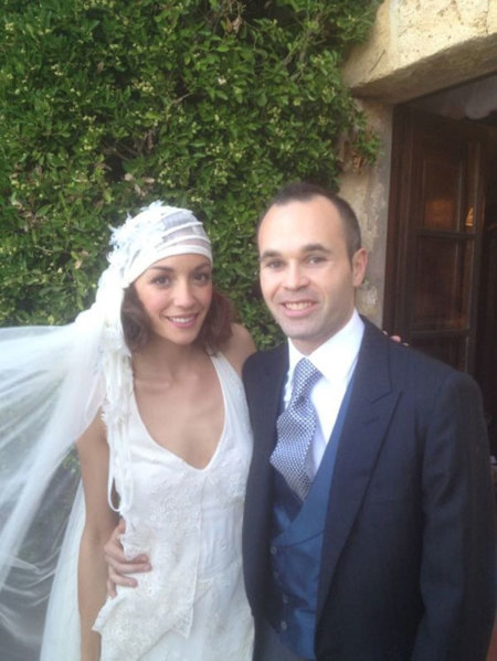 Andrés Iniesta y Anna Ortiz ya son marido y mujer