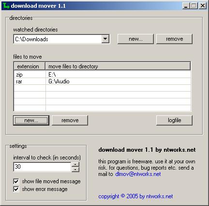 DownloadMover, organizando tus descargas en Windows