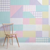 Colores pastel y formas geométricas la combinación perfecta para las paredes en verano