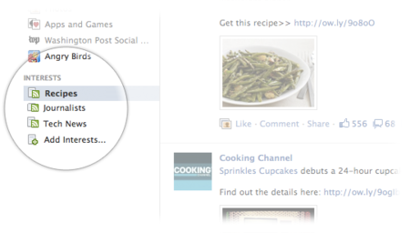 Las listas de intereses convertirán a Facebook en un periódico virtual personalizado