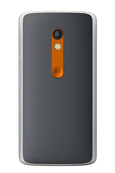 Moto X Play Black Orange Back