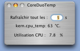 Aplicación para monitorizar gráficamente la temperatura de los MacBooks Pro